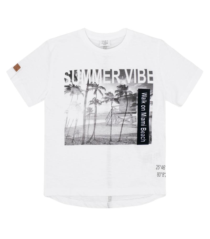 57d3eae0c55 Hust & Claire t-skjorte med teksten summer vibe - DressMyKid AS