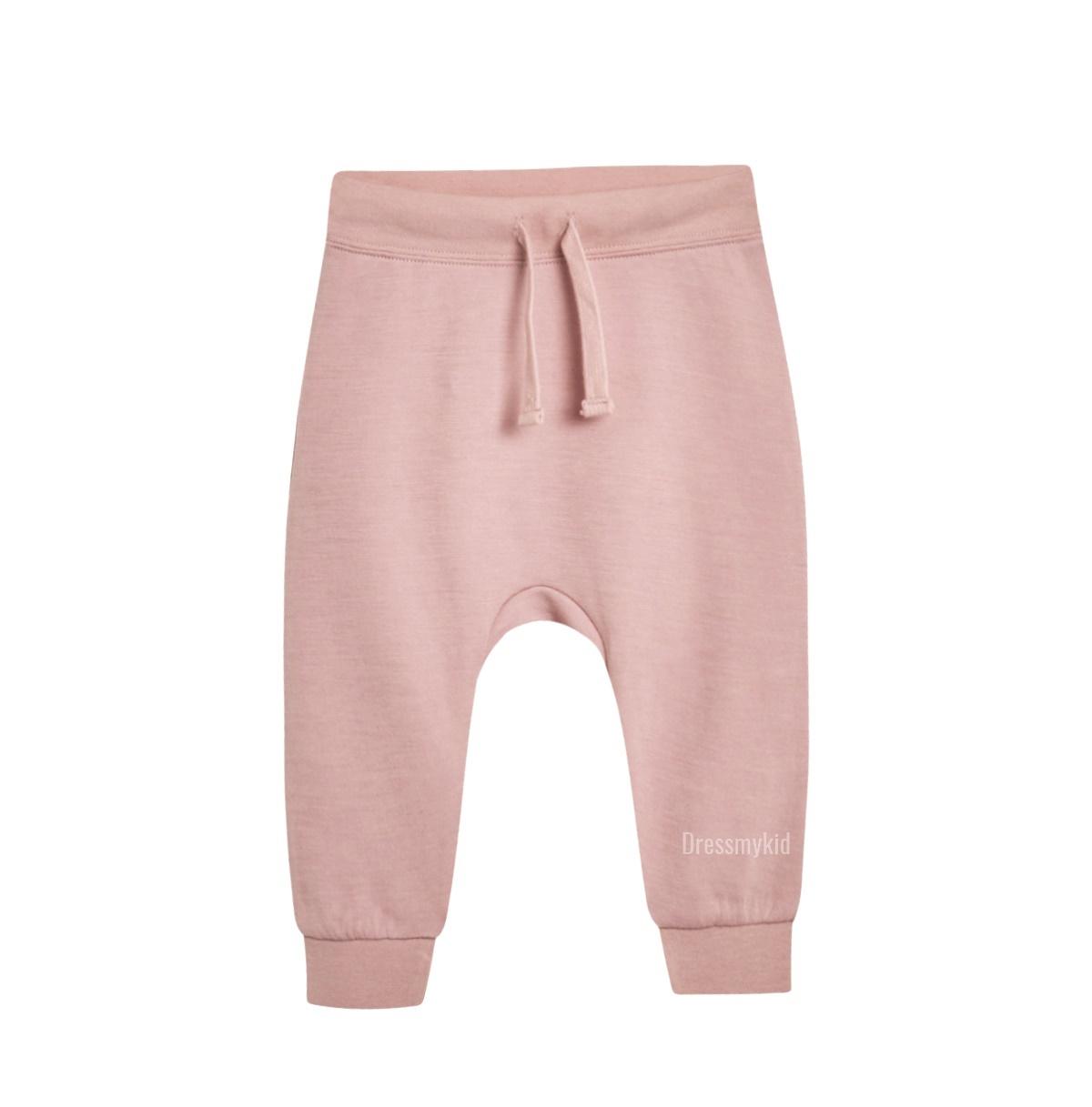 Hust & Claire baggy ullbambus bukse, rosa DressMyKid AS