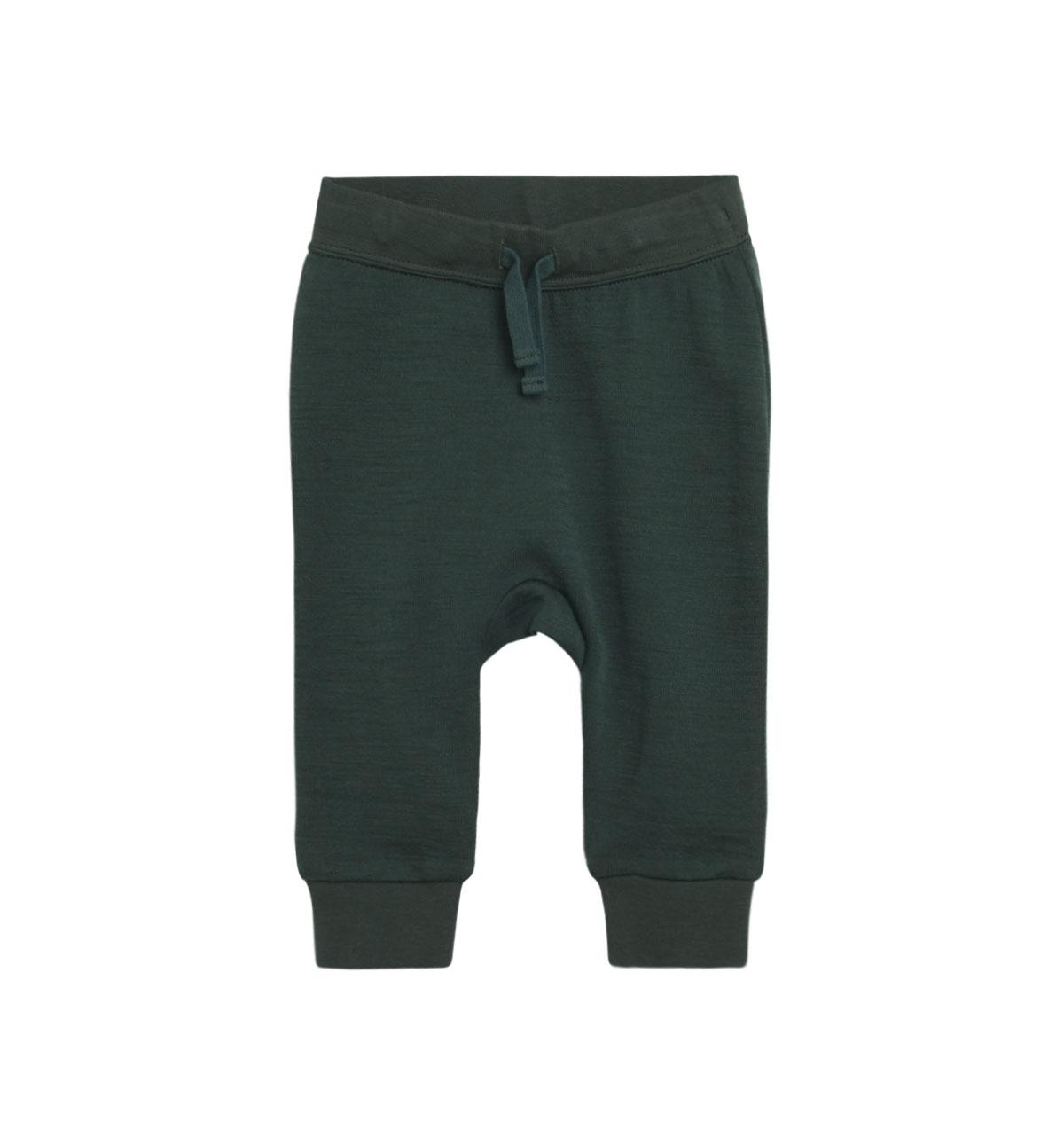 Hust & Claire baggy ullbambus bukse, grønn DressMyKid AS
