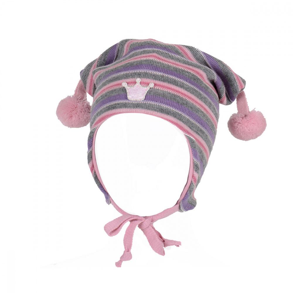 b269c88d Kivat lue, rosa og lilla med striper og krone - DressMyKid AS