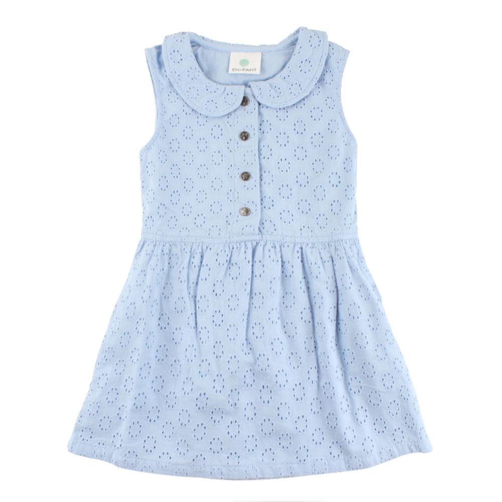 fa40008c En Fant kjole til barn med engelske blonder, lyseblå