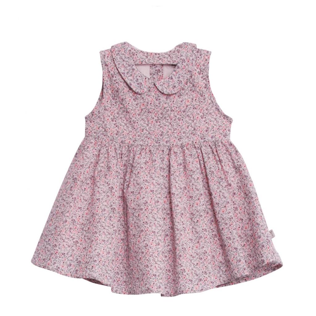 01392434 Wheat Eila kjole med blomster til baby, powder - DressMyKid AS