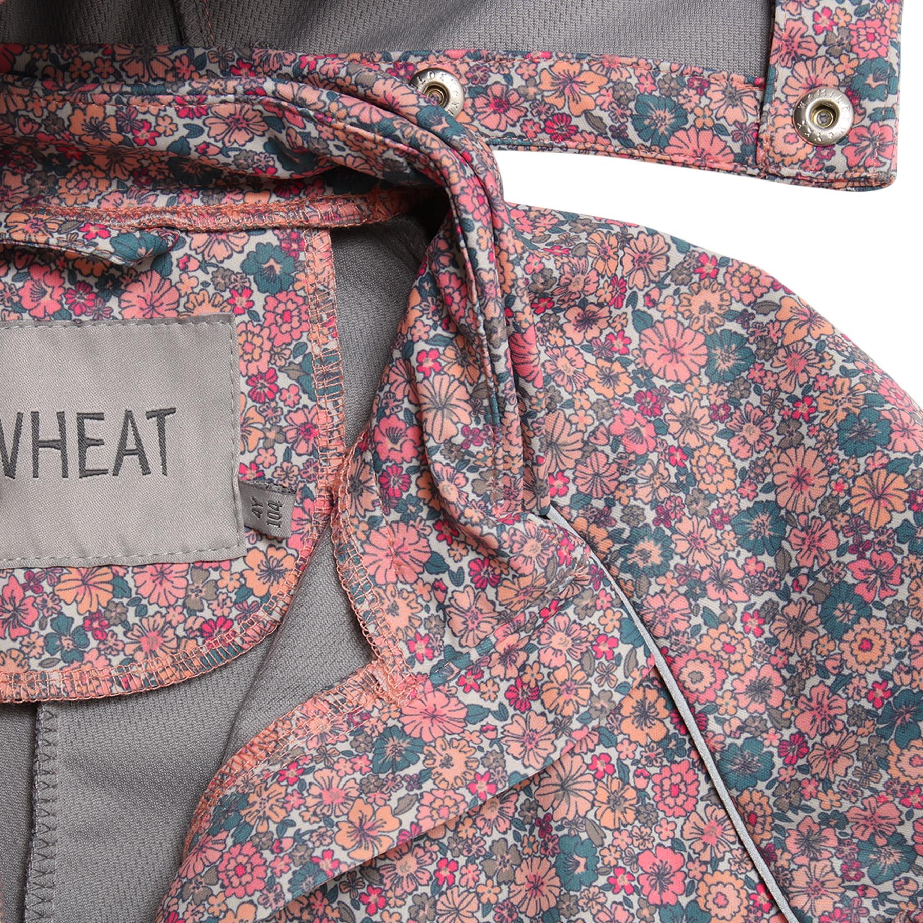 Wheat Softshelldress Til Barn Med Blomster Rosa