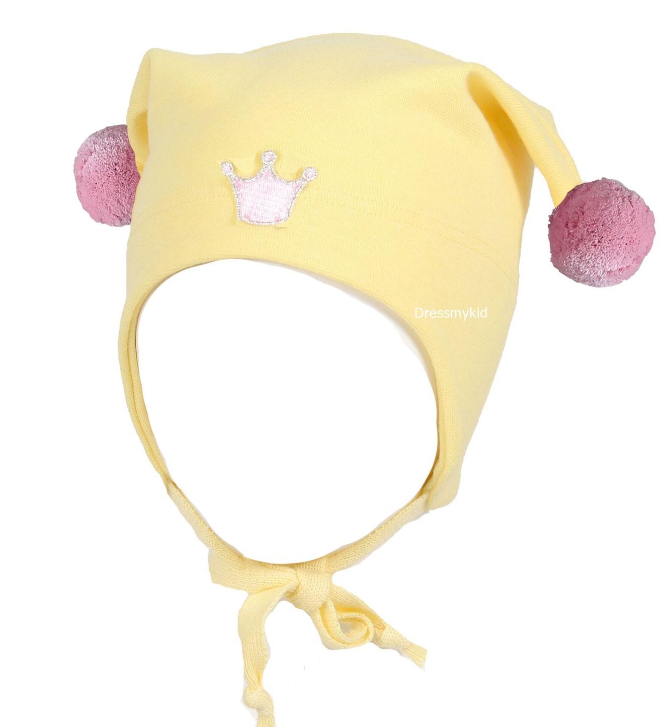 Kivat vårlue til barn med krone, støvrosa DressMyKid AS
