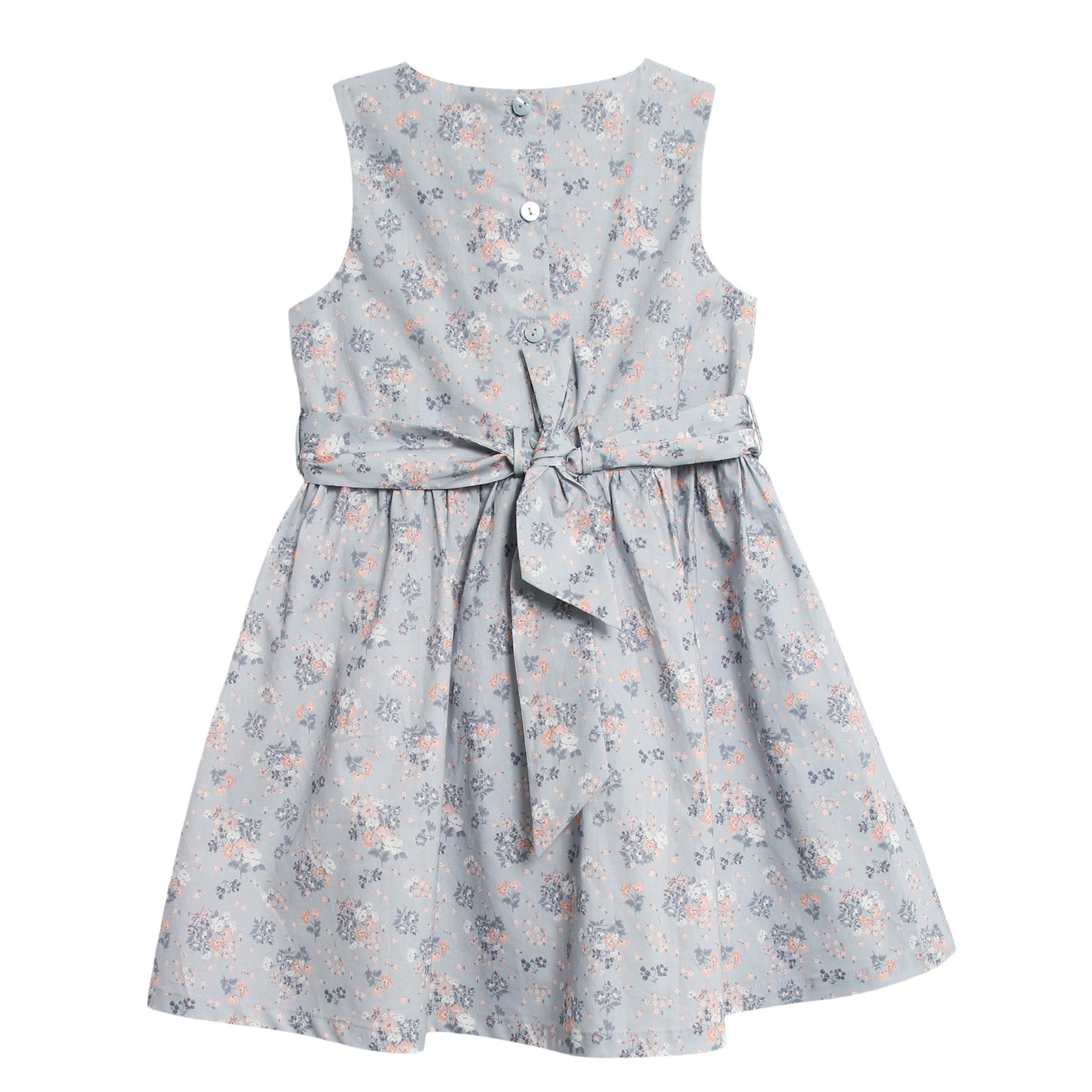 Wheat Pinafore kjole med blomster, pearl blue DressMyKid AS