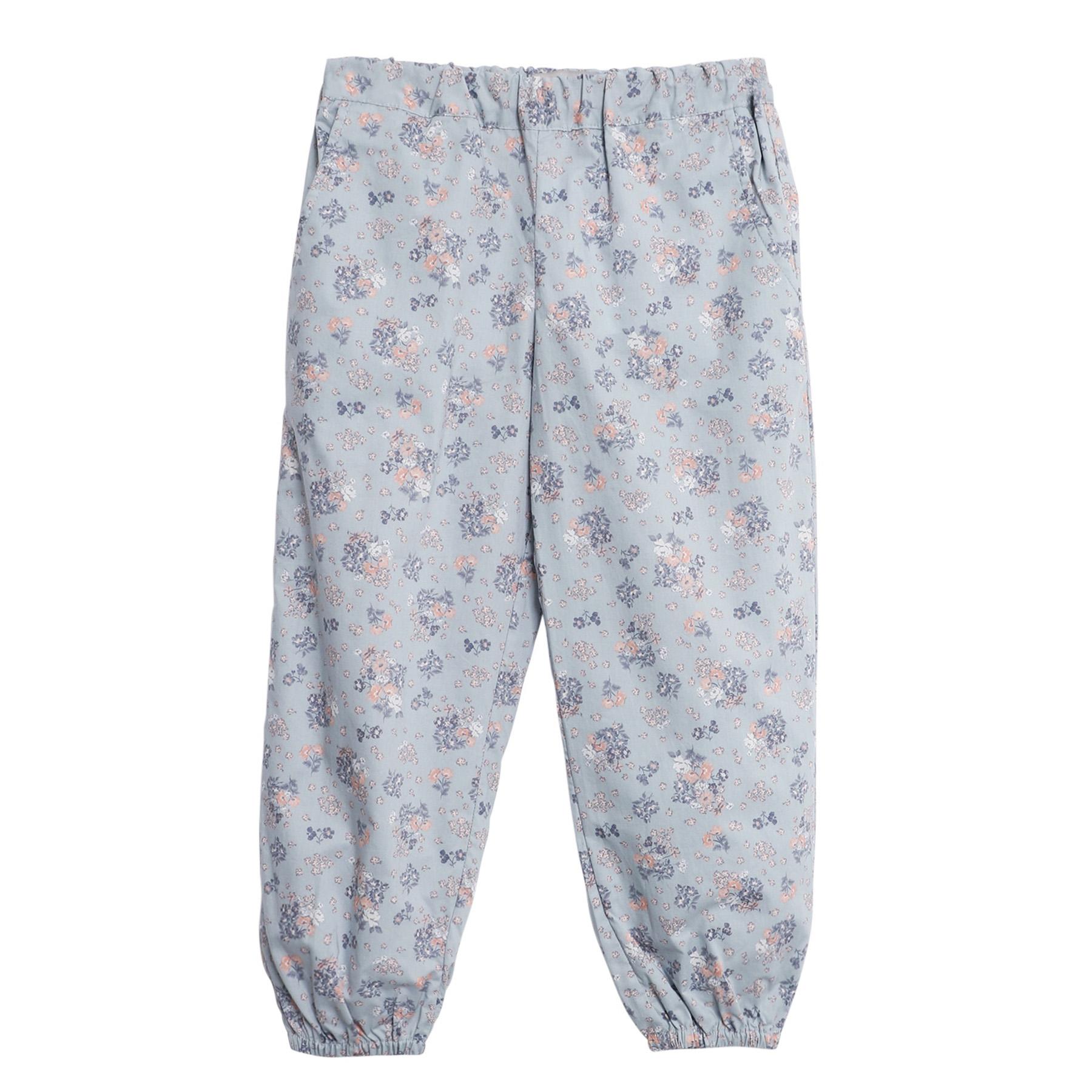 Wheat bukse til barn med blomster, pearl blue DressMyKid AS