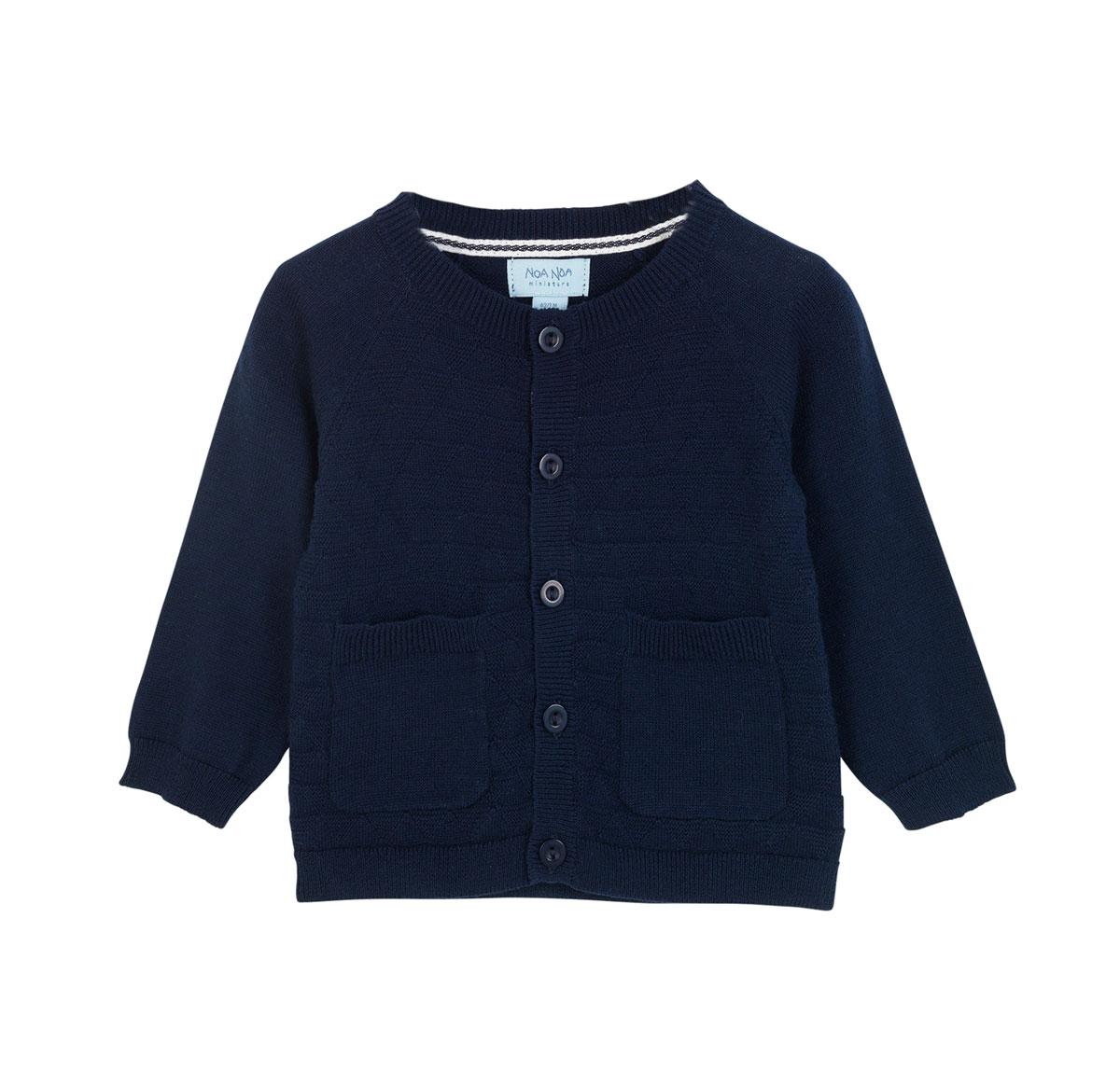 9afb365b Noa Noa Miniature strikket cardigan, marineblå - DressMyKid AS