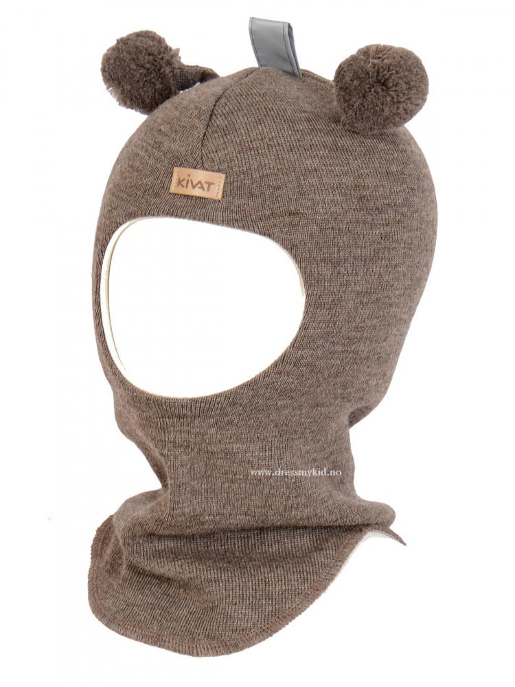 708c5e31 Kivat lue, brun balaclava med refleks og dusker - DressMyKid AS